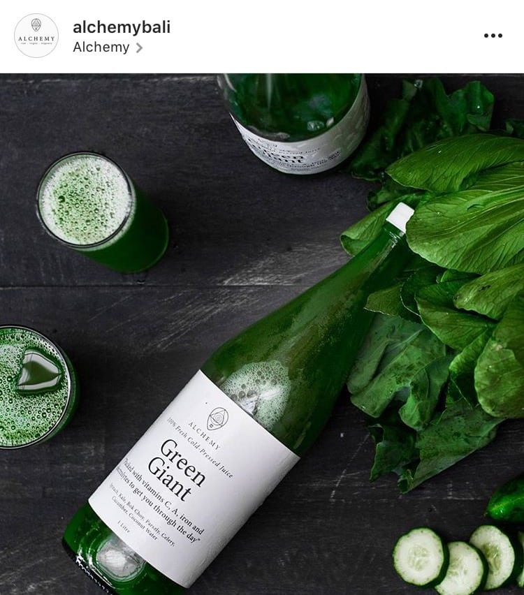 @alchemybali Instagram green juice