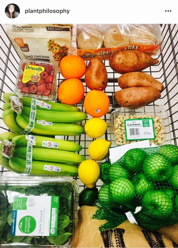 @plantphilosophy Instagram vegan shopping cart