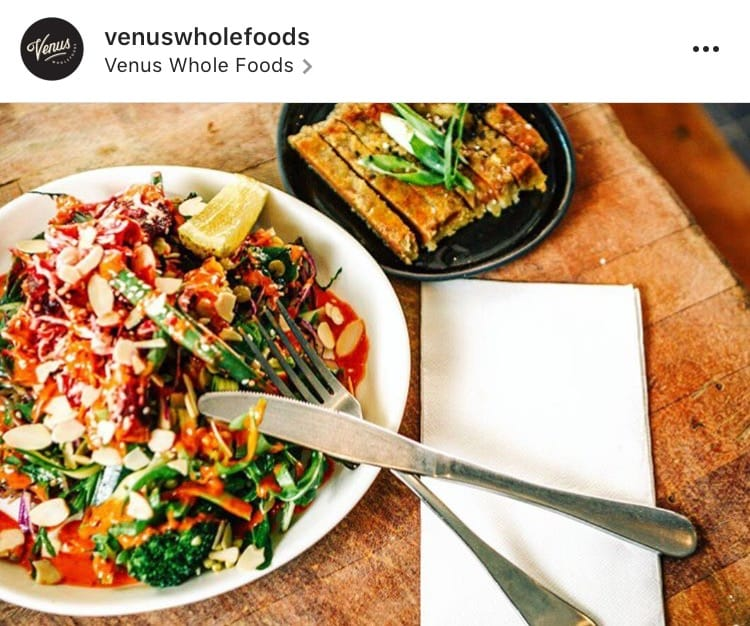 @venuswholefoods Instagram vegan colourful salad