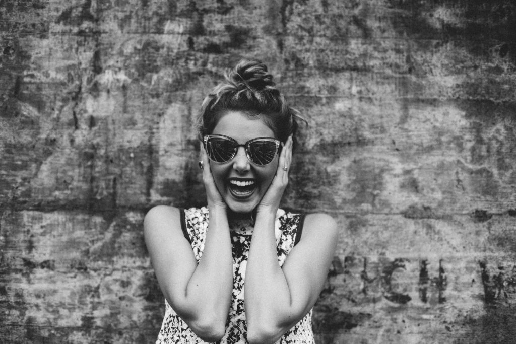 Laughing girl for anti-stress